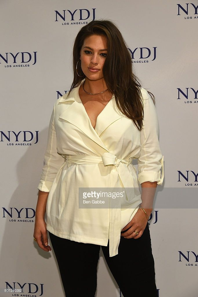 Model Ashley Graham attends the NYDJ 2016 Fit To Be Campaign Launch at Lord & Taylor on January 28, 2016 in New York City.