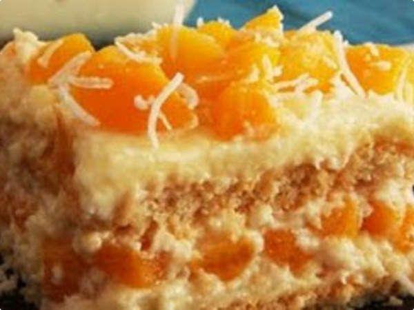 Torta de Pêssego gelada