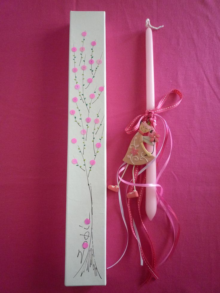Handmade Easter Candle (and Box) for Girls