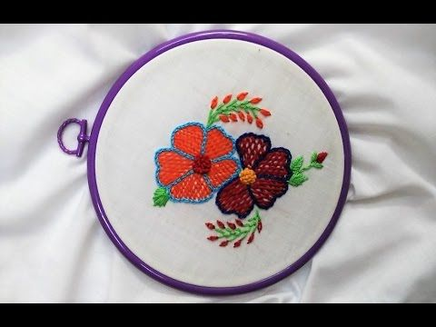Hand Embroidery - Romanian and French knot Stitch - YouTube