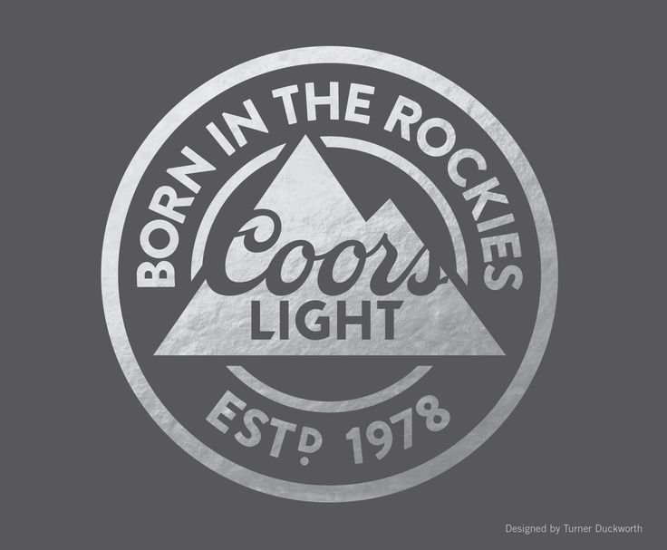 Coors Light Visual Identity. Designed by Turner Duckworth.