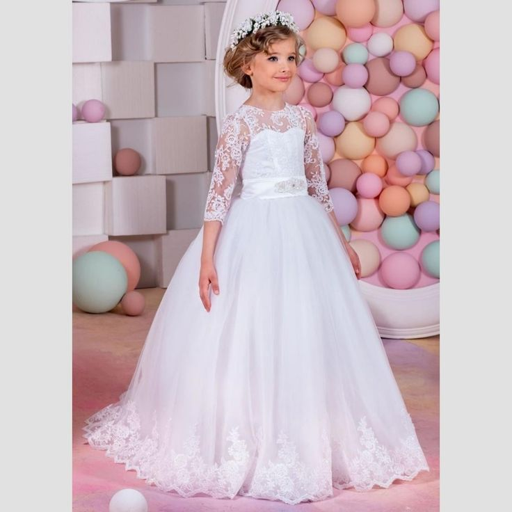 http://babyclothes.fashiongarments.biz/  Princess 3/4 Sleeve Lace Flower Girls Dresses 2017 A Line Tulle Sheer Girls Wedding Party Dress Bow Knot Vestidos de Comunion, http://babyclothes.fashiongarments.biz/products/princess-34-sleeve-lace-flower-girls-dresses-2017-a-line-tulle-sheer-girls-wedding-party-dress-bow-knot-vestidos-de-comunion/,          Welcome to our store   We sell all kinds of women's Prom Dresses, Evening Dresses, Wedding Dresses, Homecoming Dresses, Cocktail Dresses…