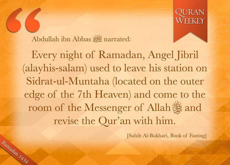 Revision of the Qur'aan