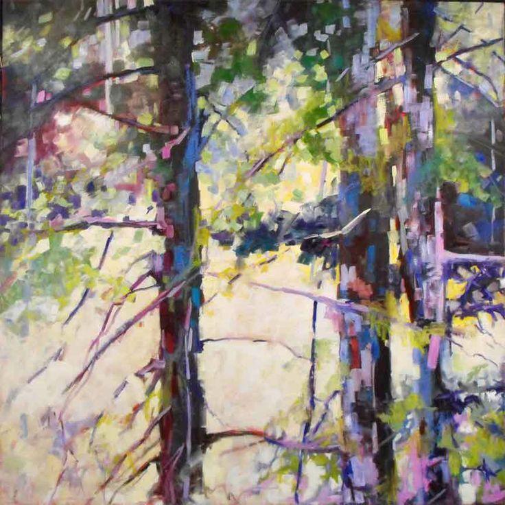 Sheila Davis, Blue Sunday #tree #art