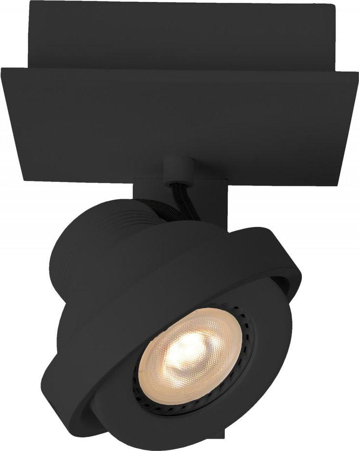 Opbouwspot Luci - 1 licht - Zwart - Zuiver