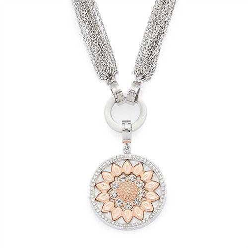 Raffinierte Damenkette Fiore Darlin's 015794 http://www.thejewellershop.com/ #damenkette #kette #chain #steel #leonardo #schmuck #glasstein #jewelry