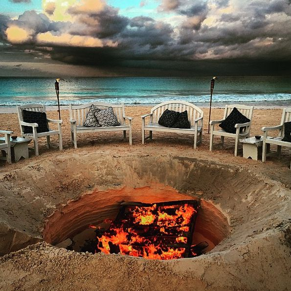 Party Island Beach: Fire Pit At Beach Party Harbour Island, Bahamas