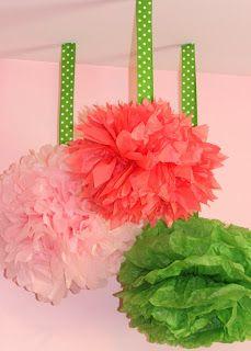 DIY Tissue Pom Poms - Mirabelle Creations