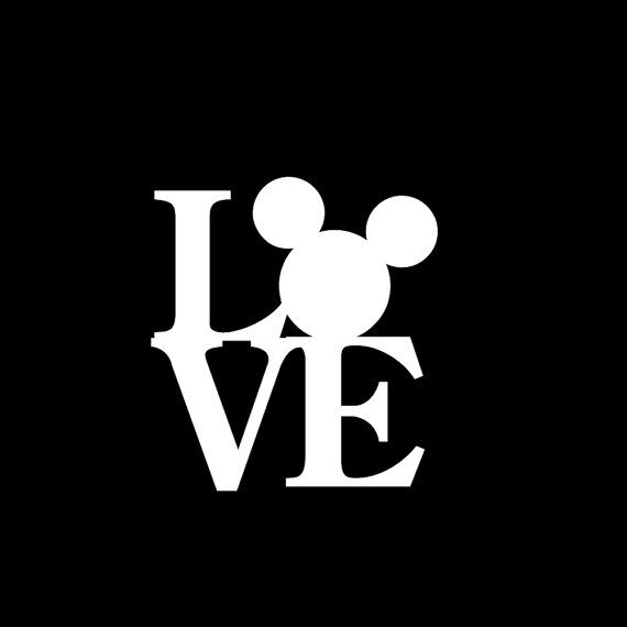 Love Mickey Disney Decal Window Car Sticker 4 by theCustomDecals