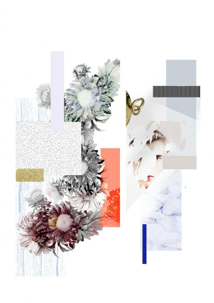 Ode to Florals. An ode to florals is a graduation project by Femke Hofhuis from the Academie Artemis in Amsterdam. The designer calls herself a color lover, print maker, trend seeker and textile addict – all which come across in these beautiful floral collages.