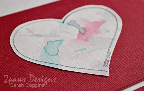 2paws Designs: Watercolor Valentines