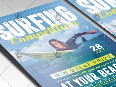 Surfing Competition - Premium Flyer PSD Template
