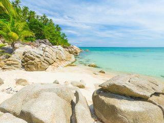 Pláž, palmy, žiadni ľudia.