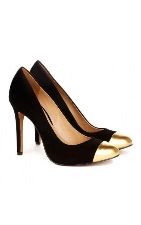 Flat Gold Tipped Shoes