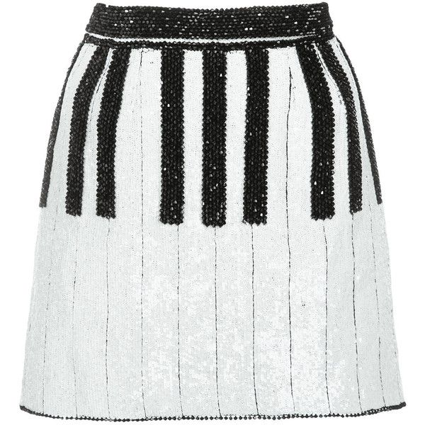 Dolce & Gabbana short piano skirt (14.970 BRL) ❤ liked on Polyvore featuring skirts, mini skirts, bottoms, dolce & gabbana, white, beaded mini skirt, fitted skirts, short skirts, white skirt and dolce gabbana skirt