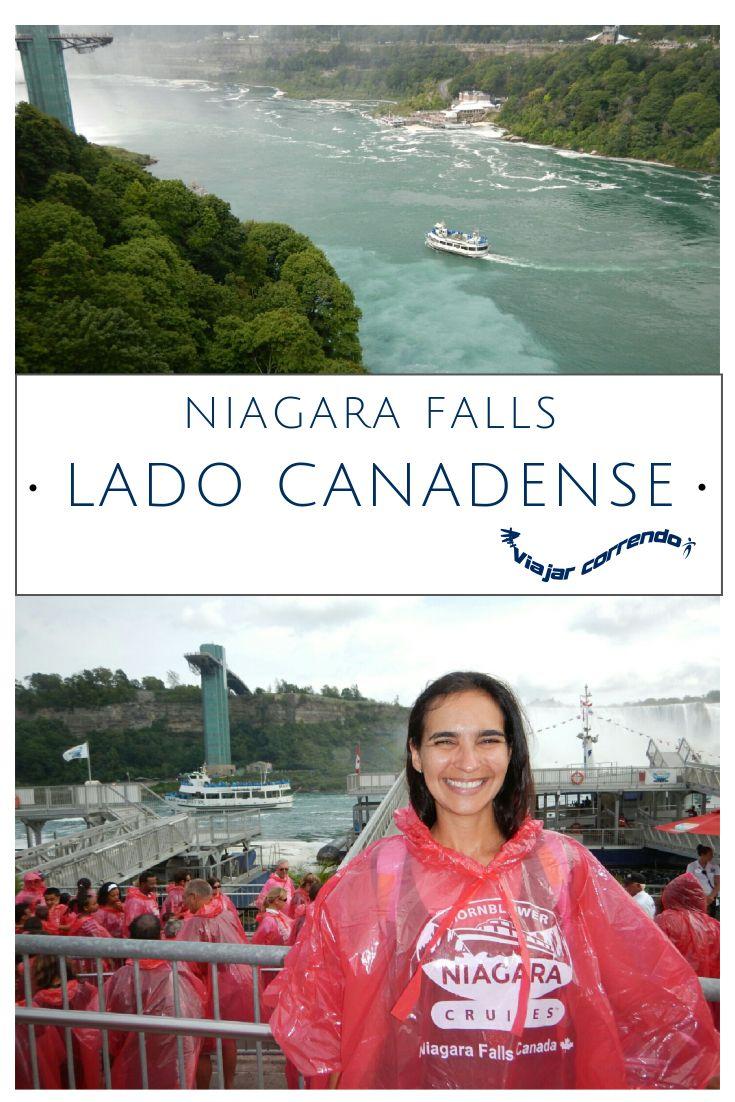 Visita a Niagara Falls do lado Canadense. Inclui passeio de barco com chegada bem próxima a Cataratas do Niágara. Passeio de barco. Hornblower. Niagara cruises. Horseshoes Falls. Cataratas lado canadense.American Falls.