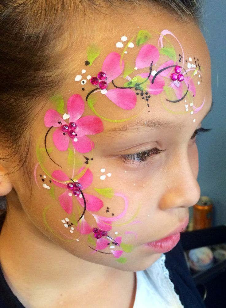 face painting flowers - Google Search | Birthday party ...