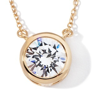 "3ct Absolute™ Floating 9mm Round Solitaire 18"" Necklace at HSN.com."