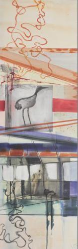 """in my  dreams II "",  Acrylcollage,  Monika Stoffel"