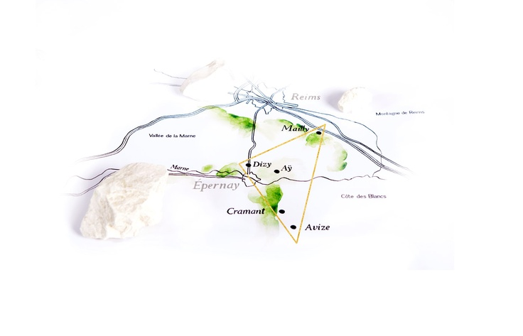 """Perrier-Jouët's vineyard is located in the heart of Champagne's """"Magic Triangle"""", comprising the best crus in the AOC. #champagne #france Please Drink Responsibly"""
