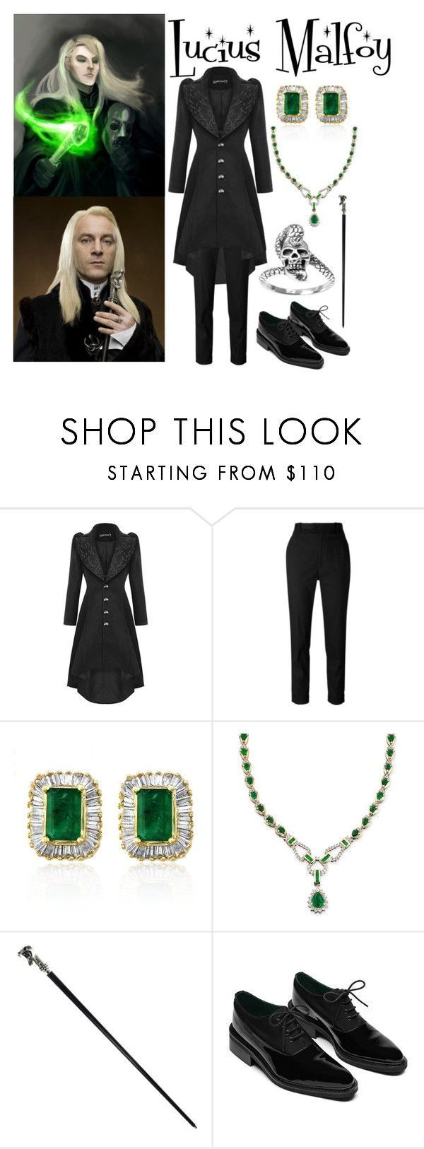 """Lucius Malfoy"" by aquatic-angel ❤ liked on Polyvore featuring Étoile Isabel Marant, Effy Jewelry, Oxford and Journee Collection"