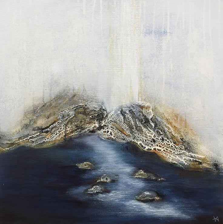 Abstrakt felings no.4 af Vivi Amelung (50 x 50 cm)