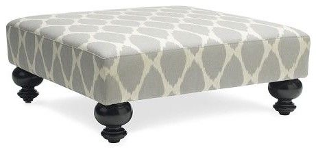 Essex Printed Ottoman - - ottomans and cubes - - by West Elm