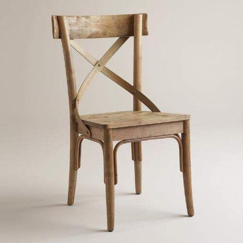 One of my favorite discoveries at WorldMarket.com: Light Walnut Finish French Bistro Side Chairs, Set of 2