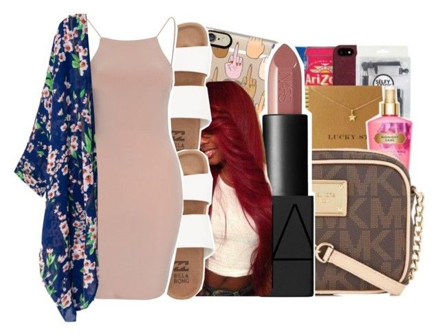 """""""I told my btch to die her hair red like dennis rodman"""" by ayeeitsdessa ❤ liked on Polyvore featuring Casetify, NARS Cosmetics, Billabong and Club L"""