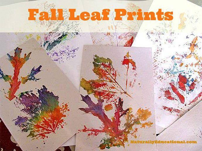 DIY Fall Leaf Prints