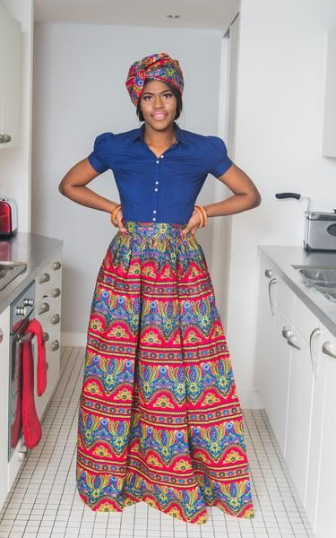 This Casanova maxi skirt is a breath of fresh air and gives a sense of confidence. The skirt is sexy, trendy and bold. It sits at the waist and brings out the beauty from within. Our African Maxi Skirts always make an impact and are of very good quality. The maxi skirt comes with a little head-wrap just like the one on the picture. - The skirt sits at the waist - Elastic at the back - Approx 47 inches - 2 sides pockets - Lined - 100% cotton wax CARE INSTRUCTIONS: Dry Clean ONLY, DO NOT…