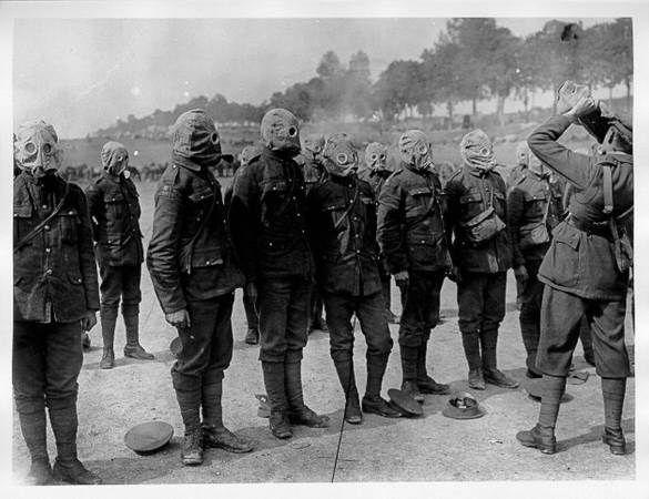 Irish Guards Gas Drill 1916