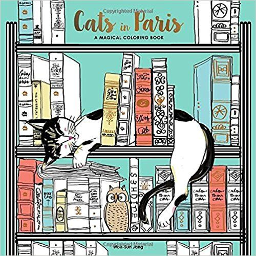 Free Donwload Cats In Paris A Magical Coloring Book