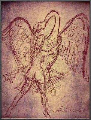 LEDA Y EL CISNE // En las claras riberas del Eurotas / blancas plumas en blancos senos, Leda;/ Zeus disfraz en cisne hace que ceda / melindre resistencia en que alborotas.// Pues a tanta suavidad le notas / que te va poseyendo en arboleda,/ que un cuello deleitoso se te hospeda / y en plumajes tiernísimos ya flotas.// Más pudo aquí la forma disfrazada / que la esencia del dios siendo la misma / logrando así… (Ver ➦)…