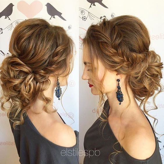 Updo Hairstyle with Loose Braids - Messy Updos