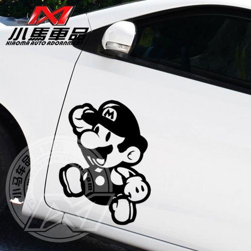Free shipping super mario car sticker 3d reflective car stickers game cartoon glue sticker car styling