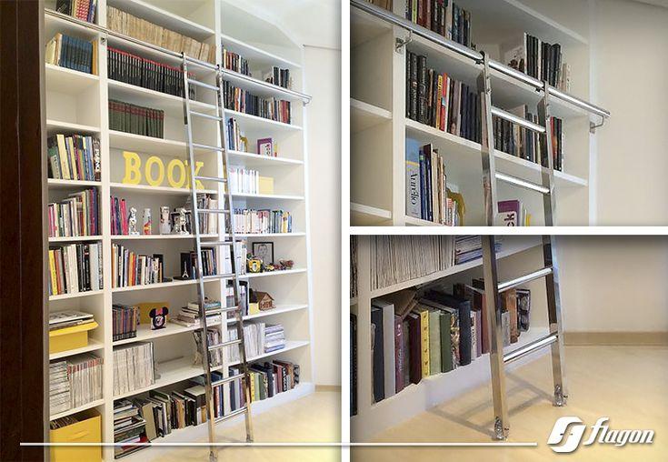 Escada deslizante de Inox.  FLAGON ( flagon.com.br )