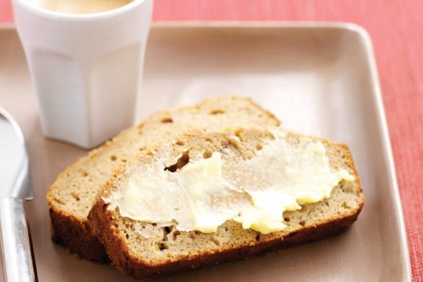 Smother rich creamy butter over warm banana bread for a comforting breakfast classic.