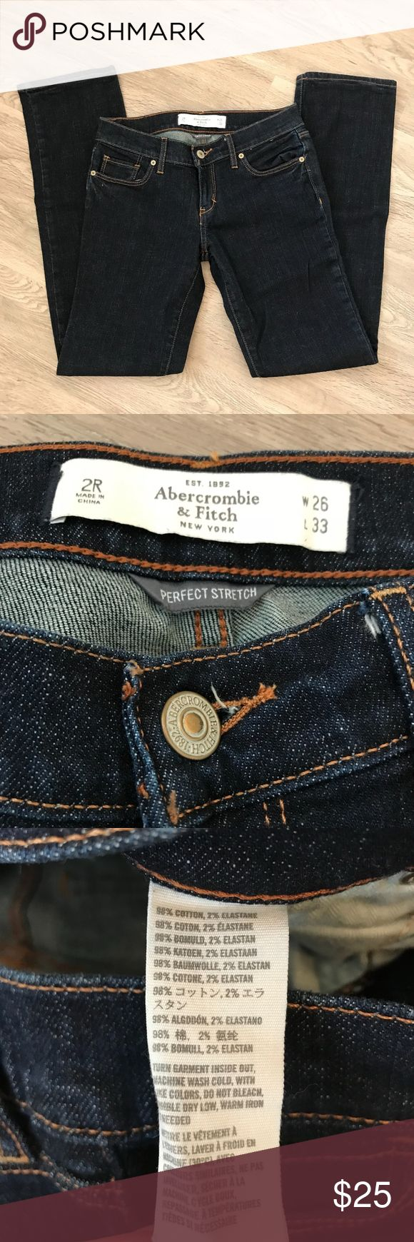 Abercrombie and Fitch Perfect Stretch Jean *NWOT* Perfect stretch jeans in dark wash. 2R, W26/L33 Abercrombie & Fitch Jeans Straight Leg