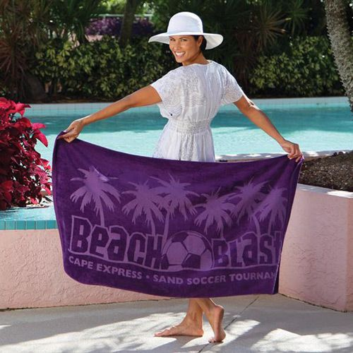 Extra Large Beach Towels | Jewel Collection Beach Towel (Colors) | Trade Show Giveaways