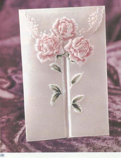 Gorgeous, gorgeous parchment rose card opening, so unique