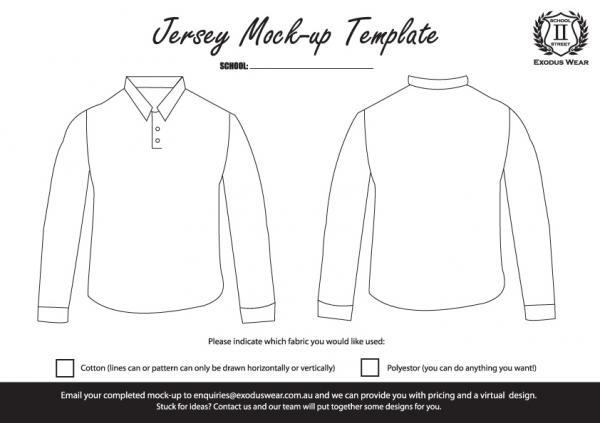 Exodus Wear Jersey Design Template