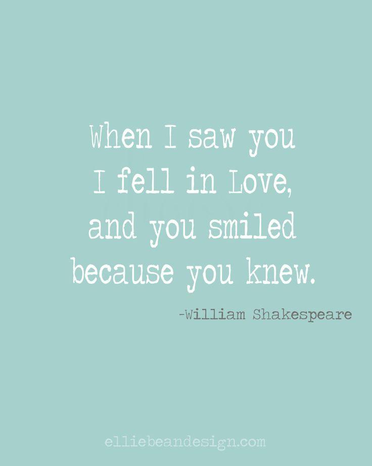 William Shakespeare love quote...so profound! Free printable!