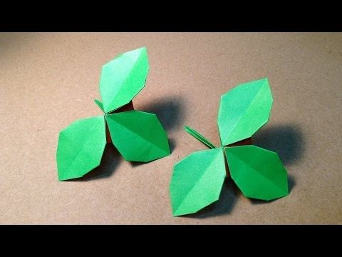 【折り紙(おりがみ)】 バラの葉の折り方 作り方 - YouTube