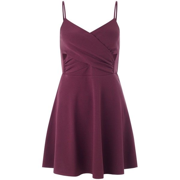 Miss Selfridge Petite Skater Dress , Burgundy ($26) ❤ liked on Polyvore featuring dresses, burgundy, petite, burgundy maxi dress, burgundy dress, purple dress, mini dress and fit & flare dress