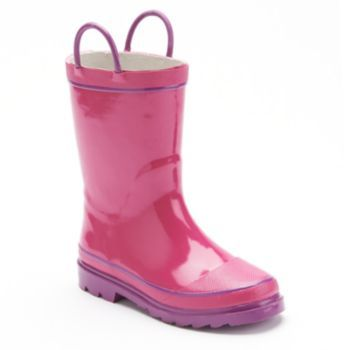 Western Chief Rain Boots - Toddler Girls  - PLAIN to put clouds and raindrops on it