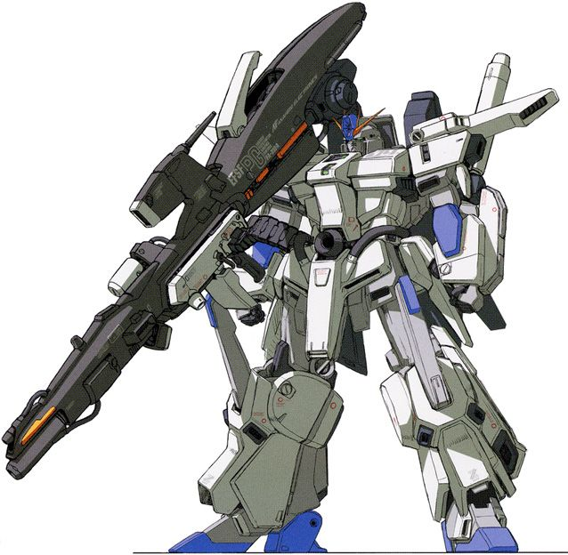 "The FA-010A FAZZ (pronounced as ""fahts"") is a variant of the MSZ-010 ΖΖ Gundam. The unit was featured in Gundam Sentinel."