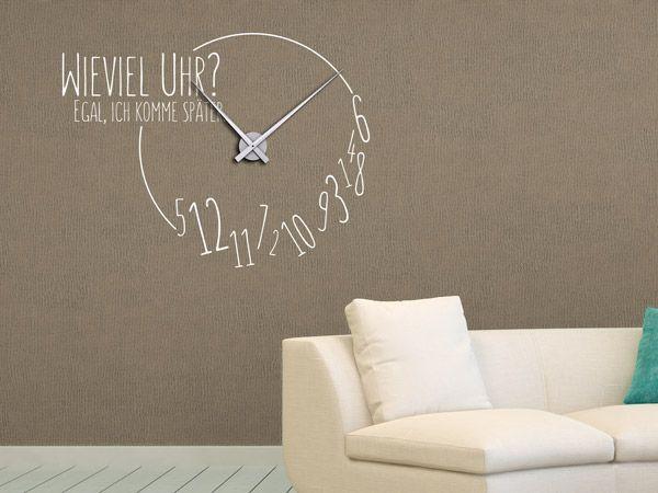die 25 besten ideen zu gro e wanduhren auf pinterest. Black Bedroom Furniture Sets. Home Design Ideas