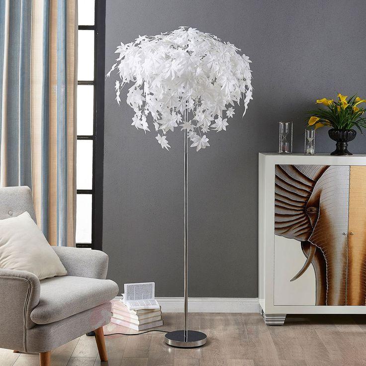 Lampa stojąca Maple z dekoracją w listki 9621120