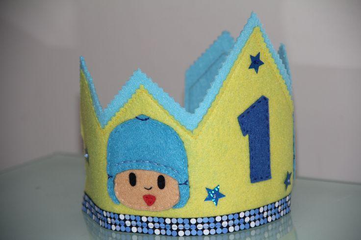 Corona de cumpleaños de Pocoyo